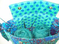 Knitting Project Bag with Yarn Guides by LibertyAvenueBags on Etsy, $27.00