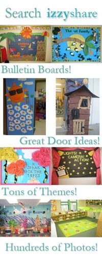 bulletin boards and doors. I think getting involved in creating a door or bulletin board is important in all classrooms. You can focus on lesson plans, weather, or anything that you found important. I think getting children to look at something or even pa