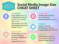 Having a difficult time keeping up with social media sizes? Click here for Pretty Presets Business Tutorial. Also, download our cheat sheet for free.