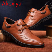 Akexiya New Arrival 2017 Spring And Autumn Men's Genuine Leather High-grade Dress Shoes Men Lace-Up Antiskid Shoes $67.16