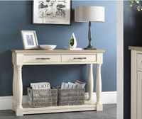 Buy Bentley Designs Chartreuse Aged Oak And Antique White Console Table. Shop Now :- https://goo.gl/Kf6u6j