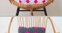 great idea - make your own pillow covers with granny squares! customize your colors