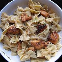 cajun chicken, chicken alfredo and pastas.