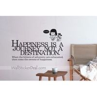 """Size : 36.22""""W x 22""""H ( 92cm x 56cm ) Category : Quotes Wall Sticker Material : Vinly Wall Sticker Room :bedroom, living room, office Color:Burgundy Includes:Words,People,Flower"""