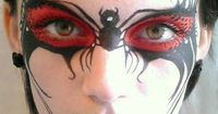 Spider paint, love the effect, will be great for Halloween