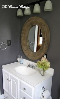 Granite Gray Bathroom Reveal Submitted By: The Corson Cottage So this week I thought I would get back to our updates. I have a few more areas of our house that