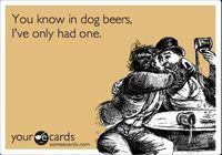 You know in dog beers, I've only had one.