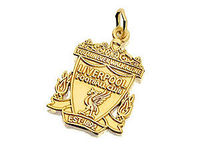 9ct Gold Liverpool Crest Pendant - 102259 A fully detailed, 20mm Liverpool FC crest charm that would be best suited for use on a chain as a pendant. Presented in a red and gold Liverpool FC crest gift box. Officially licensed product. http://www.comparest...