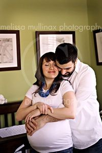 Maternity pictures in the nursery - cute idea