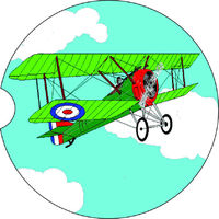 2 Absorbent Car Coasters of Bi Plane. Car Accessories for her, Auto Coaster, Coaster, Cup Holder Coaster, Gift For Her, For Him $14.00