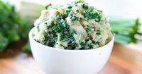 One last recipe for St. Paddy's today: colcannon. Buttery mashed potatoes + sauteed kale = YUM