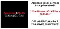 Call Appliance Medic today to schedule your appliance repair appointment in NJ at the most affordable rates. Visit- https://appliance-medic.com