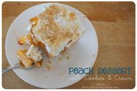 It's no secret we love our Utah peaches! Brooke has shared her Homemade Peaches and Cream Pie recipe, and Becky's shared their Peachy Keen Dessert and today I'm