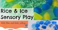 Rice and Ice Sensory Activity is a fun activity to play with rhyming words, scientific concepts and learn about primary colour mixing with all the benefits of s