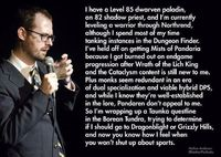 Nathan Anderson. Don't know who he is but this is hilarious and so completely true....not that I have ever played WOW
