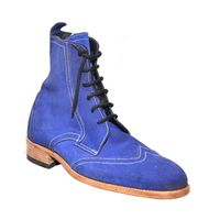 Johny Weber Handmade Lace Up Suede Long Boots