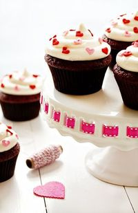 Red Velvet Cupcakes! Yum! I absolutely love red velvet and these look even more delicious! I wish I was there to eat them! This person always ices her cupcakes perfectly!!! I mean seriously! :)