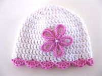 Instant Download PATTERN Crocheted PREEMIE Hat with Flower and Shell Edging on Etsy, $2.99