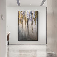 Gold leaf Abstract painting grey Painting acrylic paintings on canvas Wall Pictures extra large texture framed wall art original painting $123.75
