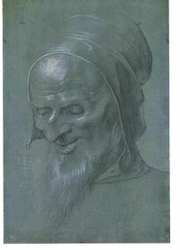 Durer: Head of an apostle Deutsch: Kopf eines Apostels Date 1509