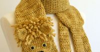 animal scarf crochet patterns, ooak animal scarves | make handmade, crochet, craft