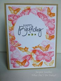masked sentiment circle and stamped butterflies