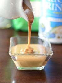 You won't believe how quick and easy this dairy-free sweetened condensed milk recipe is! No cooking! Just 5 minutes! Vegan, gluten-free, nut-free, soy-free.