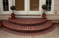 pattern for brick steps on porch | Brick Landing in Running band Pattern with Bull Nose Steps.