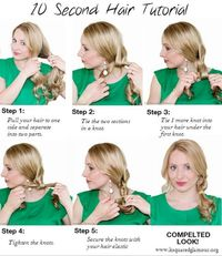10 second Hair Tutorial for back to school