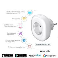 Bakeey 10A WIFI Smart Socket Smart Home Remote Controller Timing Switch Work with Amazon Alexa Google Home Compatible with Tuya Smart Life APP
