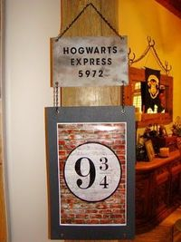 Hogwarts Express sign. Awesome!