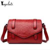 Alligator Women Handbag Fashion Female Messenger Bags Versatile Crossbody Bags $47.80