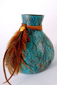 Textured paper gourd. Learn how to make your own. Miriam Joy.