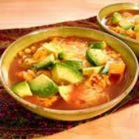 """Vegetarian Tortilla Soup �€"""" author says, """"People have offered me their firstborn children for this recipe."""" Lots of 5-star reviews."""