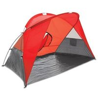 Picnic Time Cove Sun Shelter Easyup Beach Canopy Cabana Gazebo Shade Tent Red