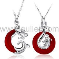 Dragon and Phoenix sterling silver love couple necklace set https://www.gullei.com/dragon-and-phoenix-sterling-silver-love-couple-necklace-set.html