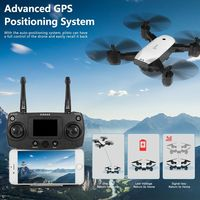 SMRC S20 1080P WiFi FPV Wide-angle Camera RC Drone GPS Follow Me Altitude Hold Foldable Quadcopter for Beginner