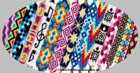 """Go to the website to see friendship bracelet ideas galore! There are tons of cool designs. Click """"Advanced"""" to see the basics of making friendship bracelets."""