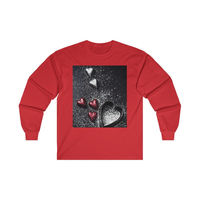 Valentine's Day Hearts, Ultra Cotton, Long Sleeve Tee, Women's Gift, Men's Gift, Valentines Day T-Shirt $25.00