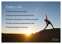 Print this poster as a daily reminder to prioritize your health and fitness through exercise, healthy eating, and positive thinking