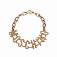 MOSCHINO LOGO NECKLACE GOLD