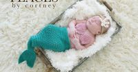 OMG. I am dying of cuteness overload!! Mermaid Tail Baby Prop Set with Top & Starfish by peacesbycortney, $70.00