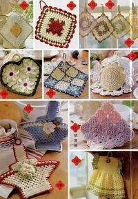 crochet pot holders, potholders and charts.