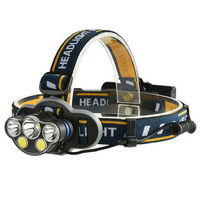 XANES 2606-5 1300LM XML-T6+2*XPE+2*COB 8 Modes Camping Bicycle Headlamp Need 2*18650 Battery USB Rechargeable