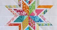 Free pattern! Lone Starburst Paper Piecing Pattern. Perfect for beginners!