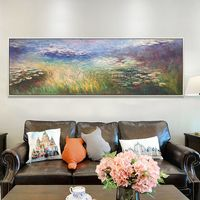 Claude Monet painting Water lilies oil paintings on canvas impression art texture painting Wall pictures cuadros abstractos $139.00