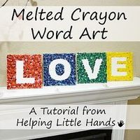 Melted Crayon Word Art