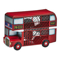 This Double Decker Bus Fan is so cool. It's British! We've combined style and functionality with our Double Decker Bus Figurine Fan.The Double Decker Bus sports a bright red paint job and features the Union Jack on its front.When you nee...
