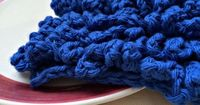 free pattern for Lots of loops dishcloth