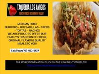 If you are seraching for the good and quality food near vallejo. You can visit Taqueria Los Amigos or order online. call :707-552-5937 FOR MORE INFORMATION CLICK ON THE LINK MENTION BELOW: https://www.taquerialosamigosvallejo.com/